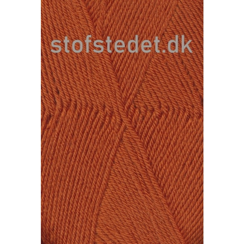 Trunte 100% Merino uld/Superwash Brændt orange-325