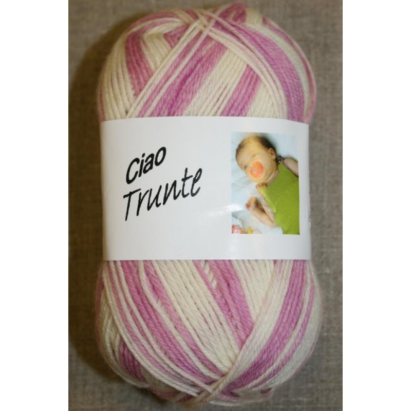 Trunte 100% Merino uld rosa/off-white-31