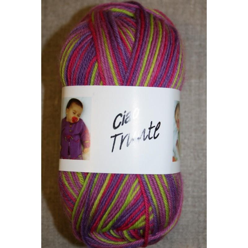 Trunte 100% Merino uld, lilla/pink/lime-31