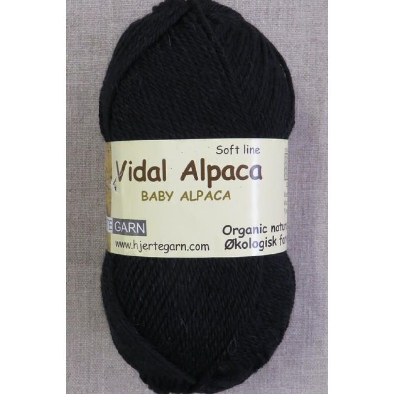 Vidal Alpaca/ Superwash Baby Alpaca i Sort-325