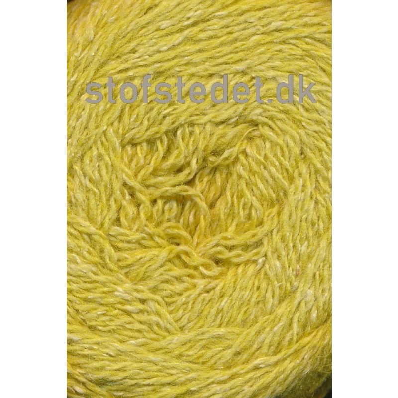 Wool Silk Gots certificeret i lime-gul | Hjertegarn