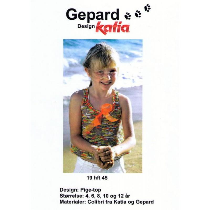Gepard mønster Pige-top-00