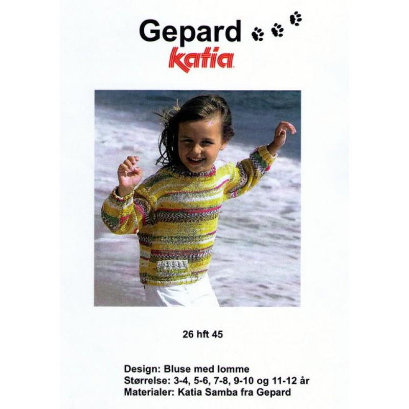 Gepard mønster Bluse m/lomme-30