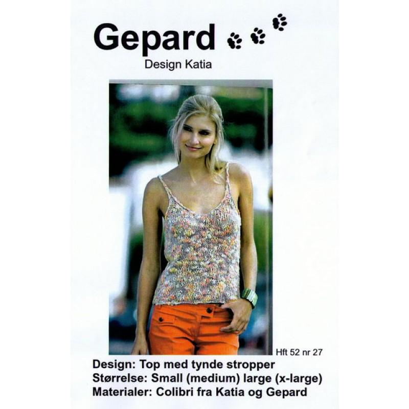 Gepard mønster Top m/tynde stropper-30