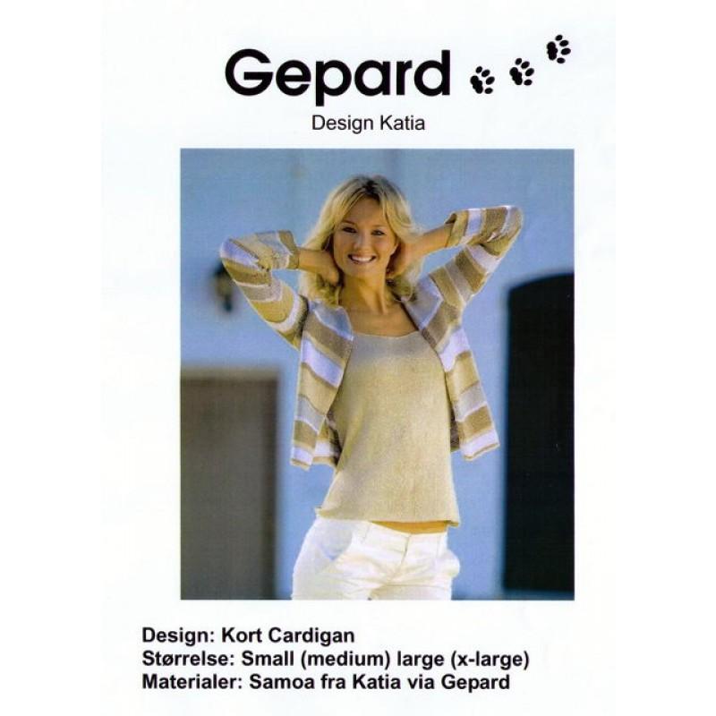 Gepard mønster kort cardigan-00
