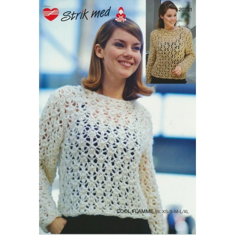 20231 Sweater med hulmønster-36