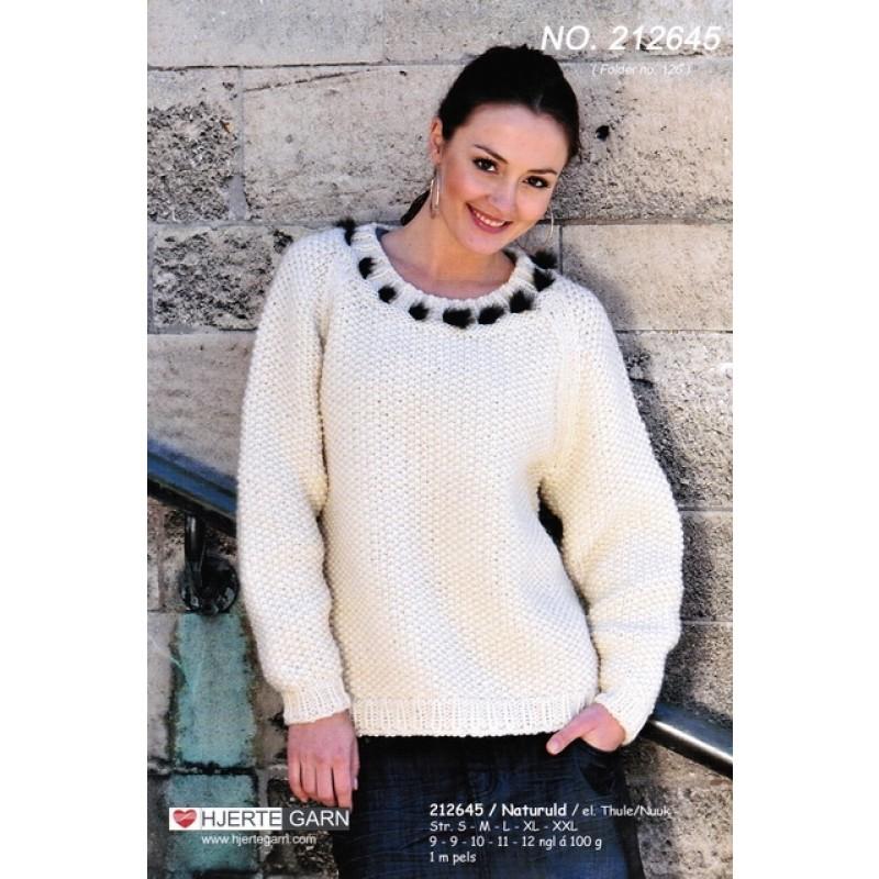 212645 Sweater i perlestrik