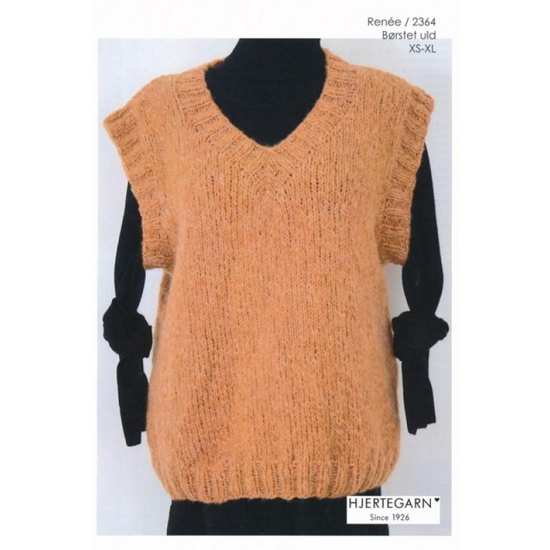 2364 Renée Vest i Børstet uld | Hjertegarn-312