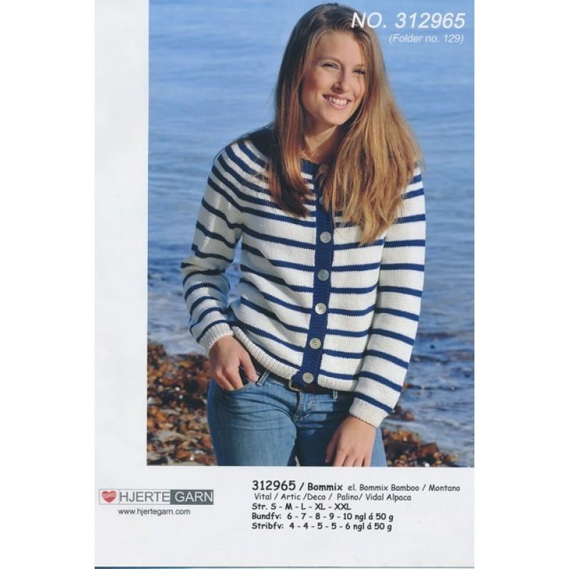 312965 Stribet cardigan