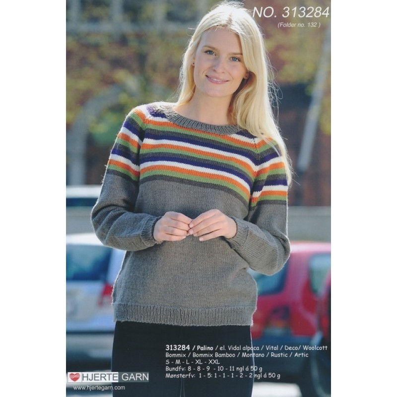 313284 Sweater m/striber