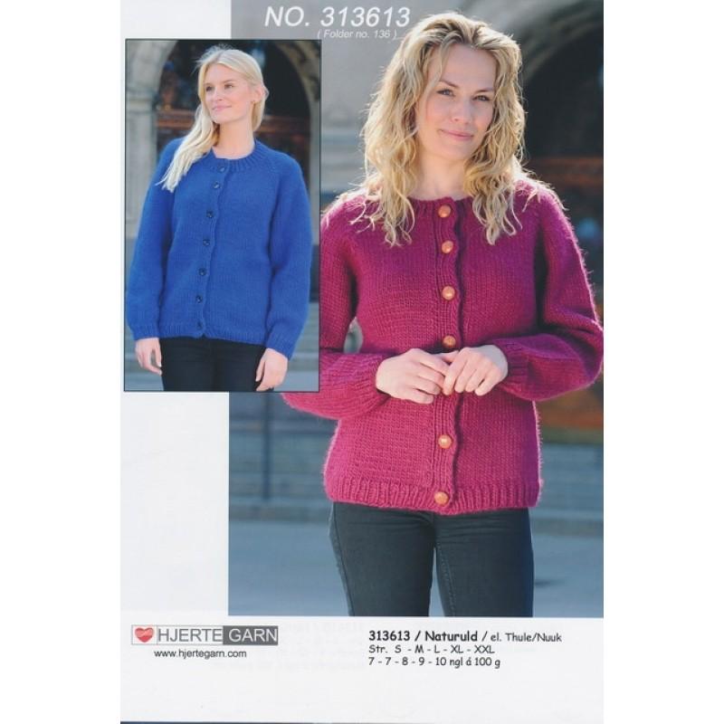 313613 Glatstrikket trøje