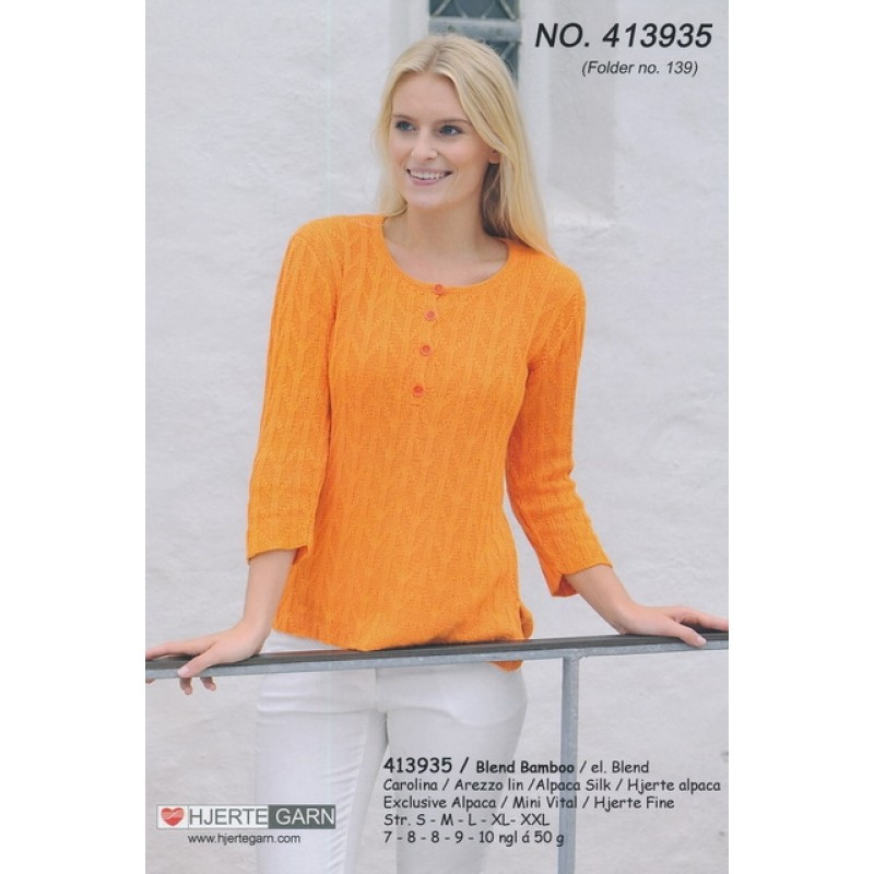 413935 Bluse m/stolpelukning