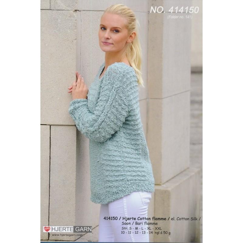 414150 Sweater m/ret-riller