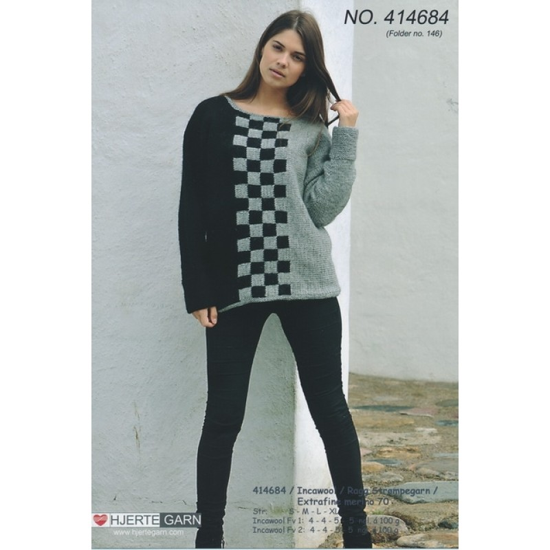 414684 Sweater m/skaktern