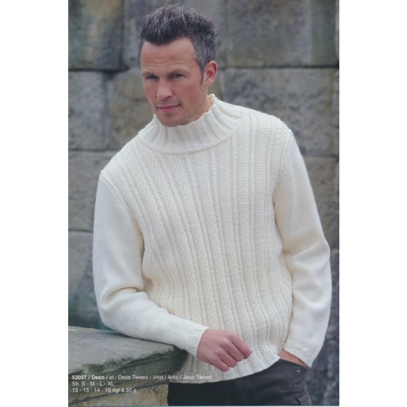 53037 Herre-sweater m/snoninge-mønster på forstyk-30