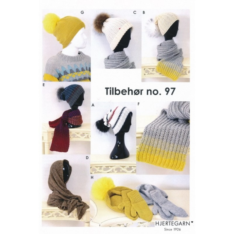 Tilbehør no. 97 Halstørklæde/hue/vanter