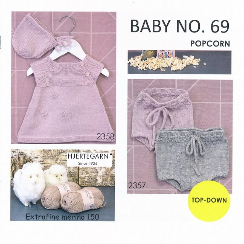 Hæfte baby no. 69 Trøje Bloomers Kjole og kyse-312