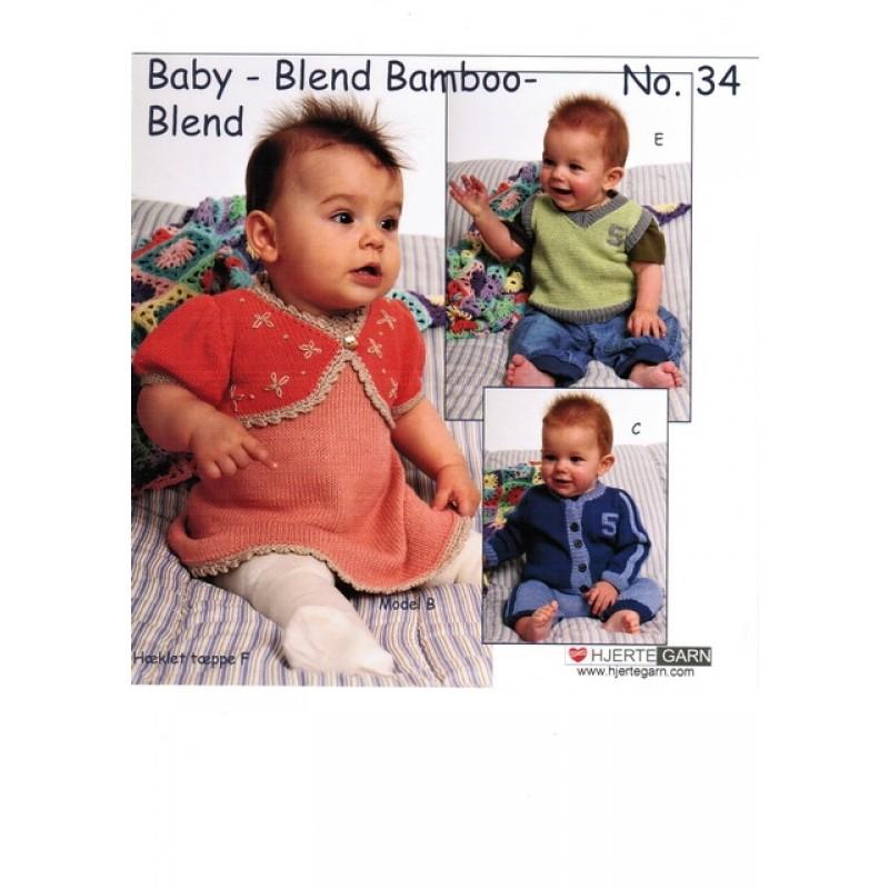 Hæfte baby no. 34 Blend/Blend Bamboo