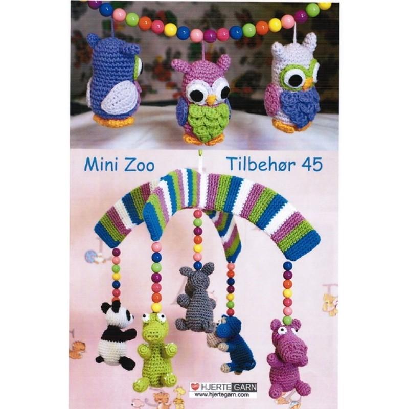 Tilbehør no. 45 Mini zoo/ Hæklede dyr-32