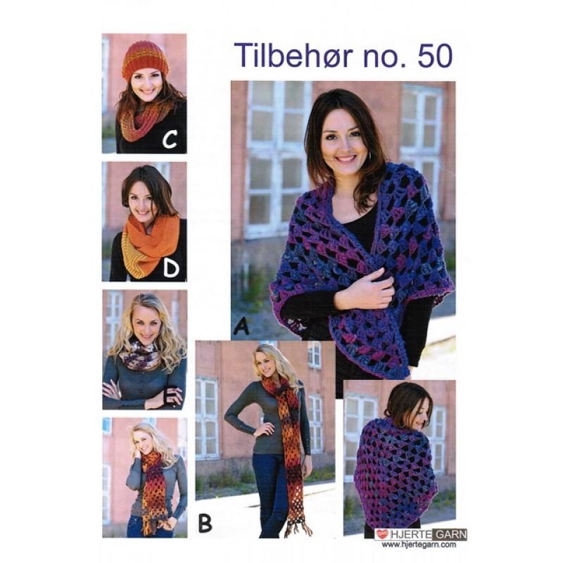 Tilbehør no. 50 Sjal/halstørklæde/hue