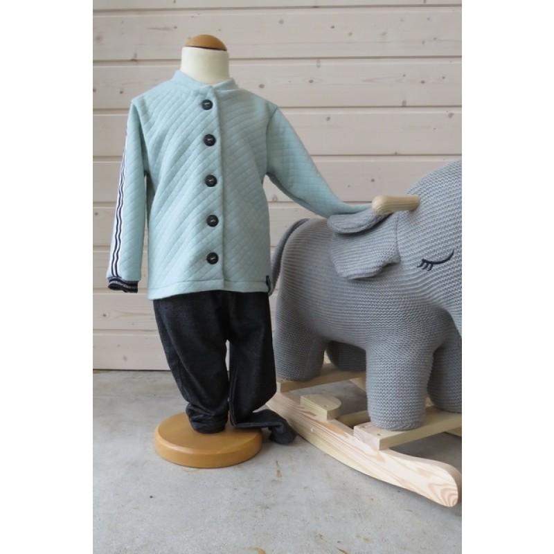 Babysæt Onion 10021 i quiltet strik og jersey i cowboy-look