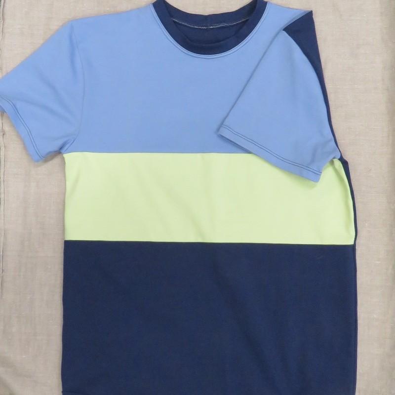 Herre T-shirt i colour block - Minikrea 77405