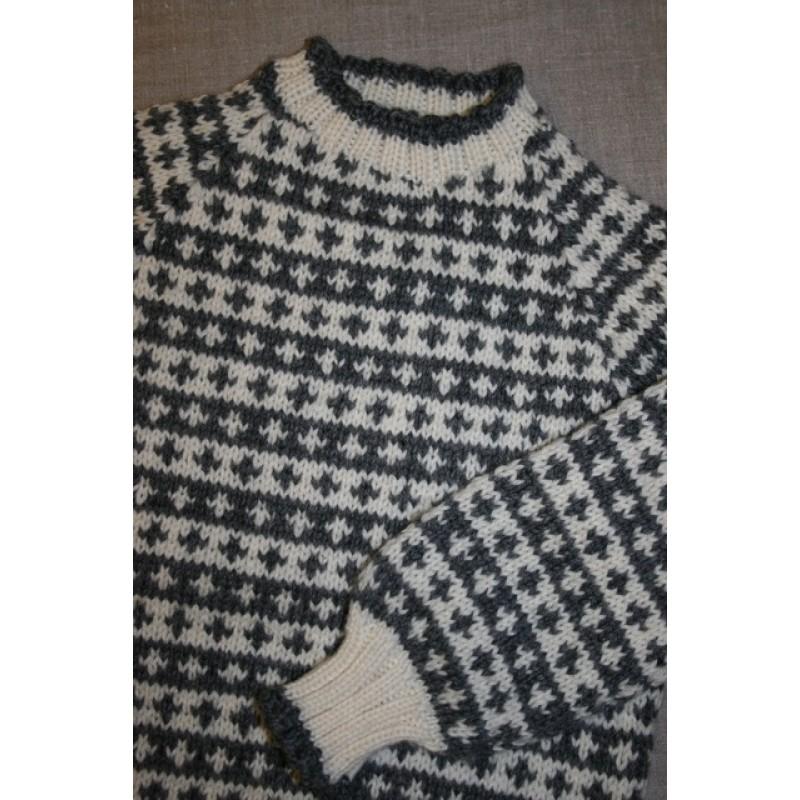 Model Børnesweater strikket i Ragg
