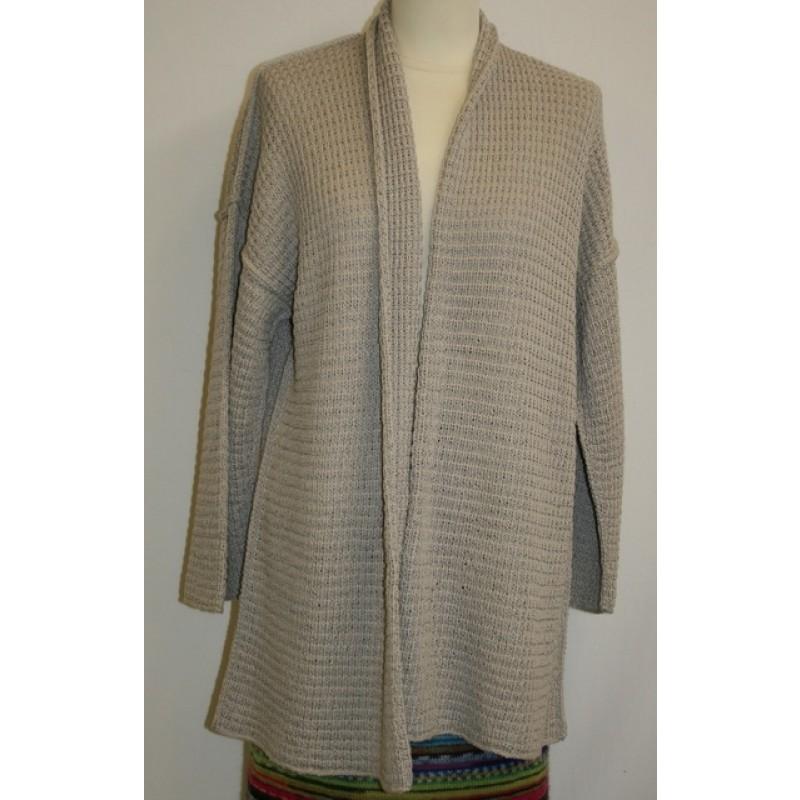 Løs jakke model Mimi strikket i Arezzo Lin-34