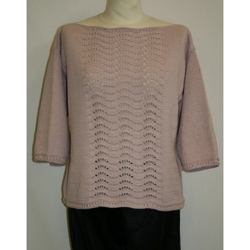 Bluse model Paola strikket i Alicante / Arezzo Lin