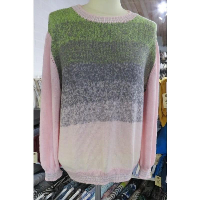Bluse strikket i Rainbow Cotton-314