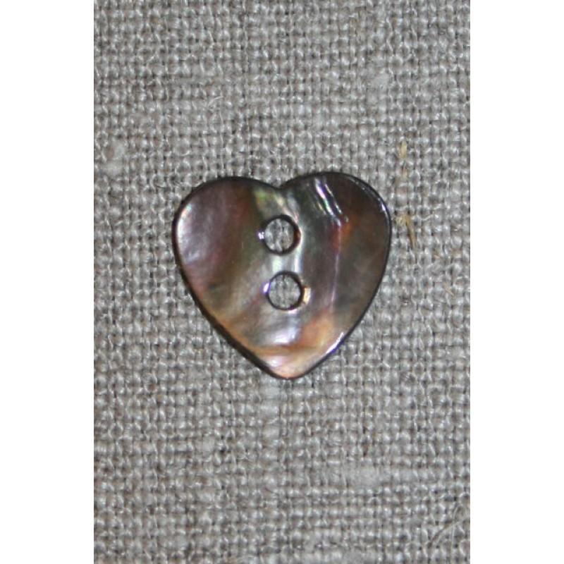 Perlemors-knap hjerte mørk-31