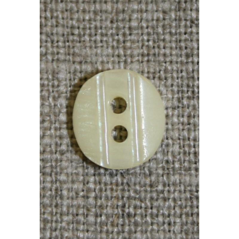 Lille knap m/rille 11 mm. off-white-31
