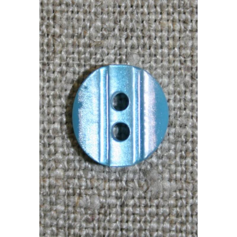 Lille knap m/rille 11 mm. lys turkis
