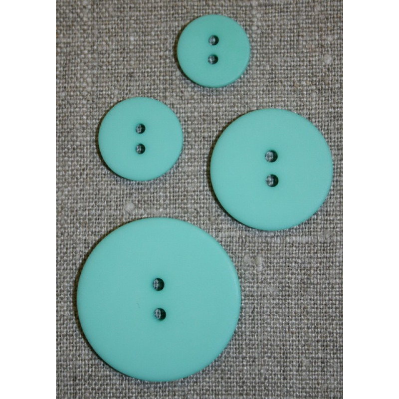 Mint/aqua 2-huls knap 15 mm.
