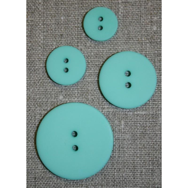 Mint/aqua 2-huls knap 18 mm.