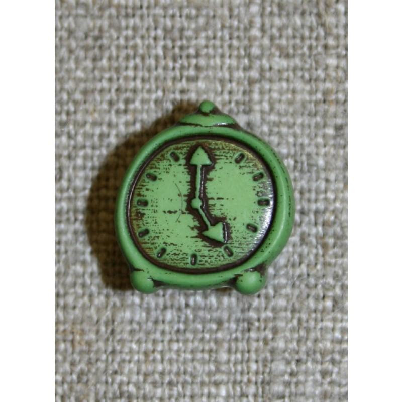 Knap m/grøn vækkeur-33