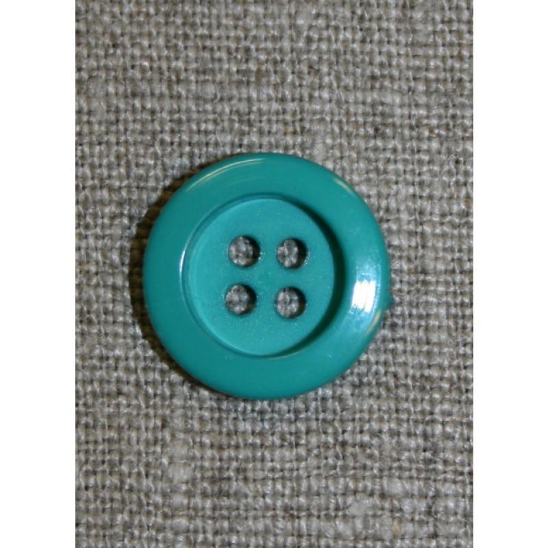 Irgrøn 4-huls knap, 16 mm.-31