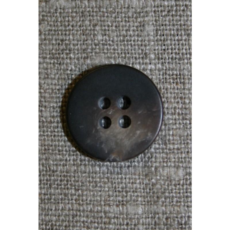 4-huls knap brun-meleret, 14 mm.