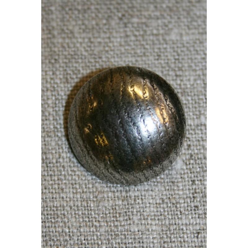 Rund knap gl.sølv, 22 mm.-33
