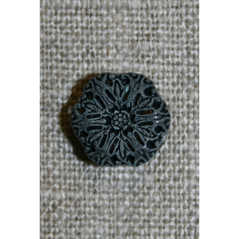 Metal-knap blomst koksgrå