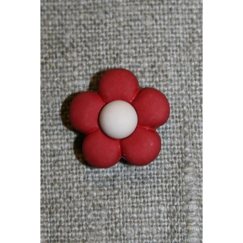 2-farvet blomsterknap bordeaux/creme-31