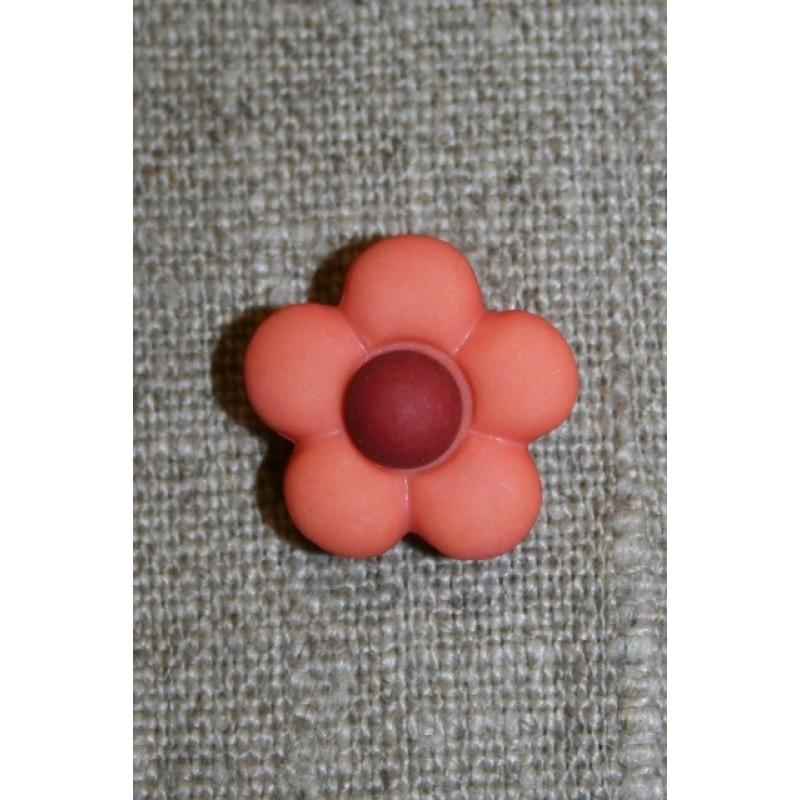 2-farvet blomsterknap koral/bordeaux-31