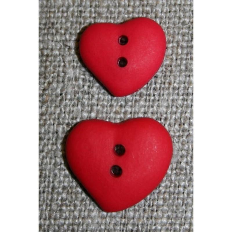 Asymetrisk hjerteknap, rød 15 mm-31