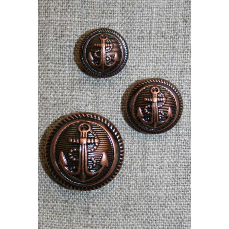Uniforms-knap m/anker, kobber 18 mm.