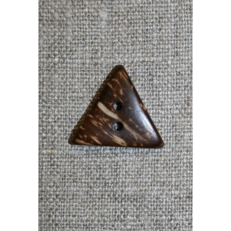 3-kantet kokosknap, 20 mm.