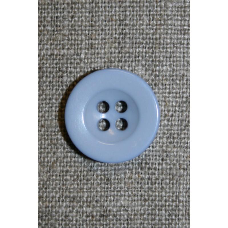 Lyseblå 4-huls knap, 18 mm.-33