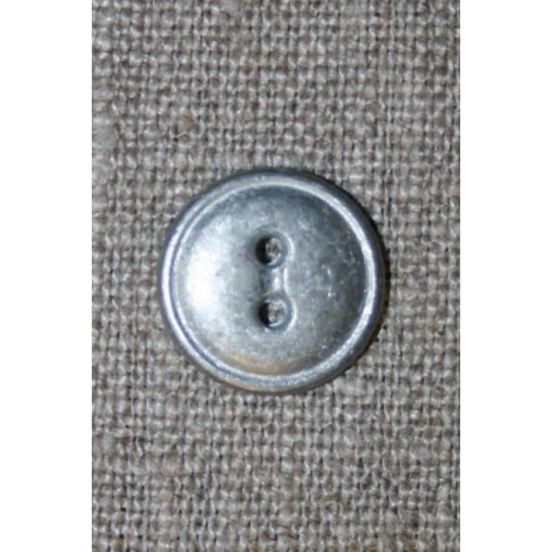 2-huls metal knap i tin-look, 15 mm.-31