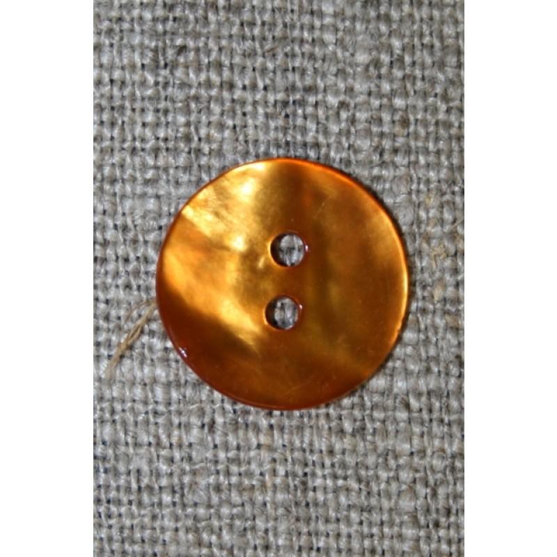 Perlemors-knap orange 15 mm.-31