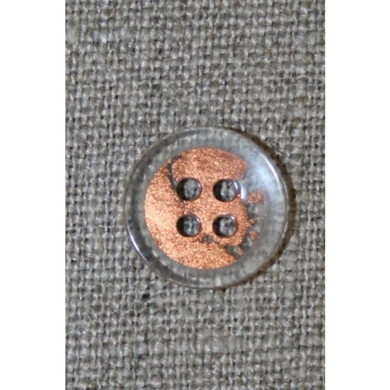 4-huls knap klar/kobber, 15 mm.-31