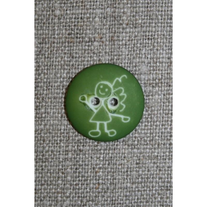 Knap m/pige, grøn-31